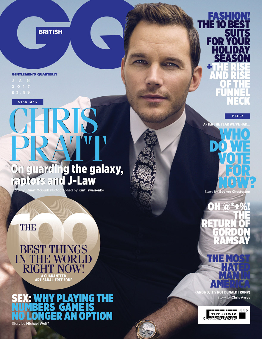 KurtIswarienko-ChrisPratt-GQ_January_cover