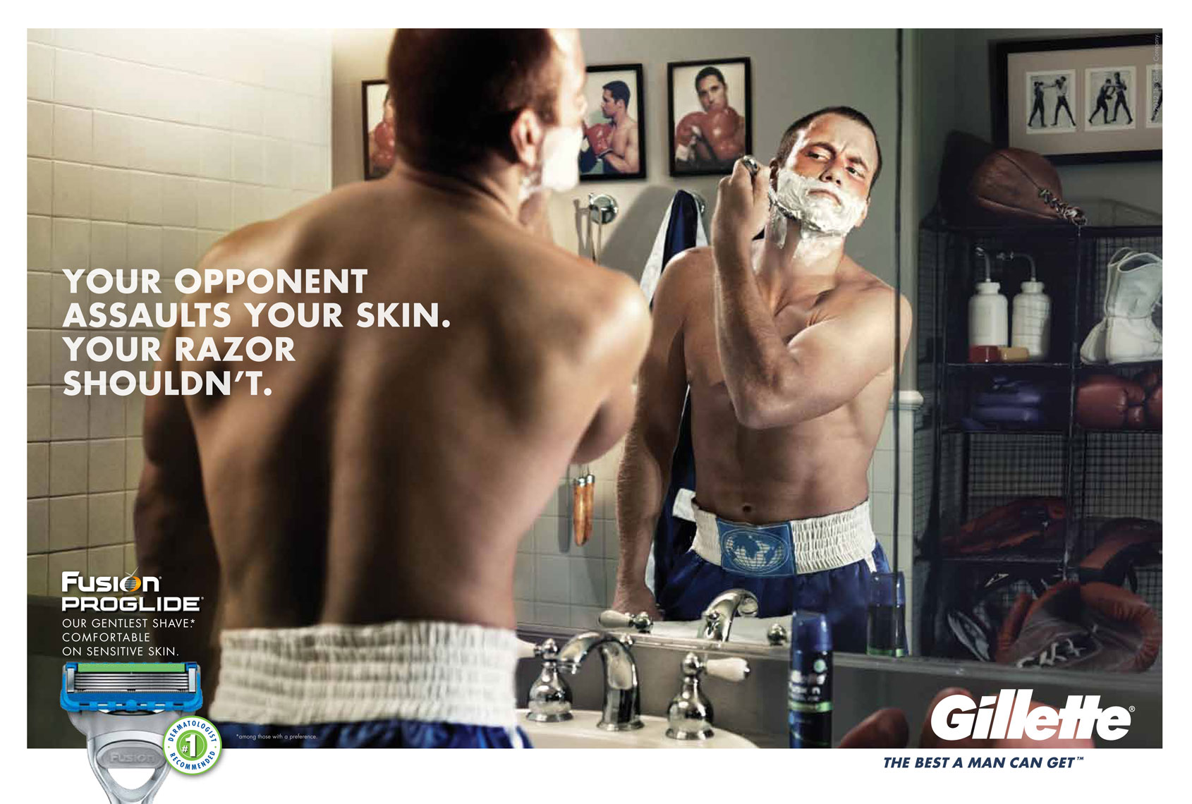 KurtIswarienko-Gillette-Boxer-Advertising